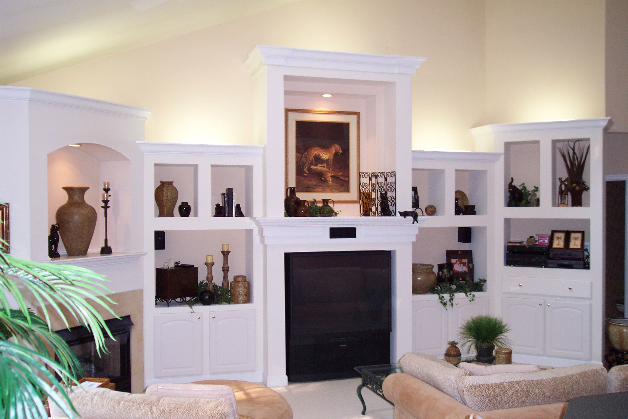 New living room remodeled by Wenkat Design and Construction