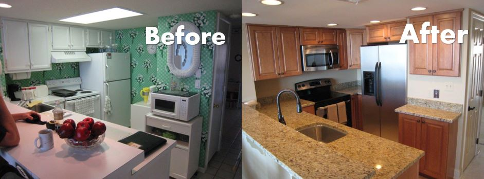 Wenkat Design and Construction before after kitchen